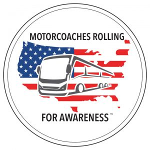 Motorcoaches Rolling for Awareness Logo
