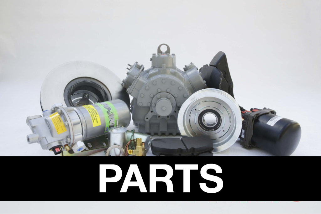 Parts banner over assorted bus parts